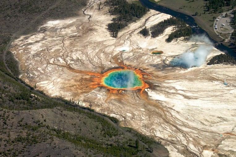 Il super vulcano di Yellowstone negli Stati Uniti d'America