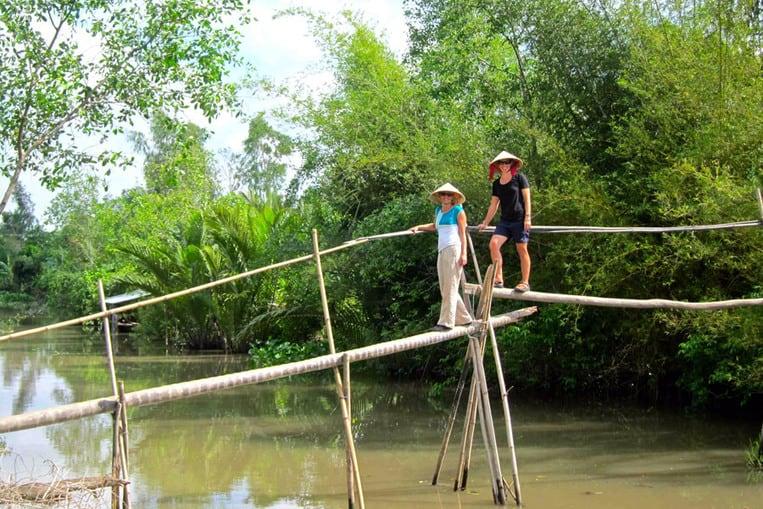 I ponti delle scimmie del delta del Mekong - Vietnam